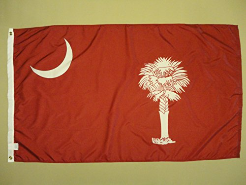 Nylon Citadel Battle Flag South Carolina CSA Reproduction Indoor Outdoor Dyed Flag Grommets 3' X 5'