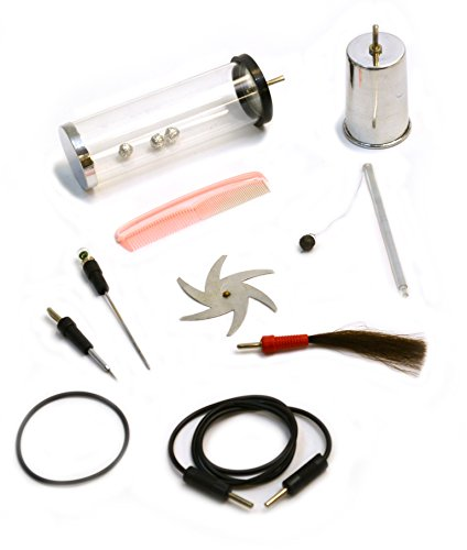 10 Piece Electrostatic Kit to Be Used with Van De Graaff and Wimshurst Machines