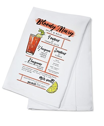 Bloody Mary - Cocktail Recipe (100% Cotton Kitchen Towel) -