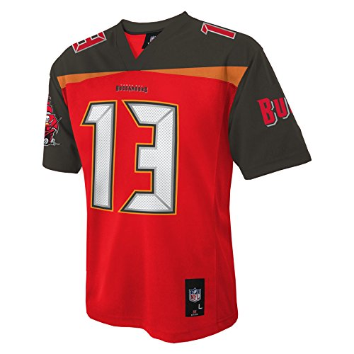 Nfl Tampa Bay Buccaneers Mike Evans Youth Boys 8 20 Mid Tier Jersey  Red  Large  14 16