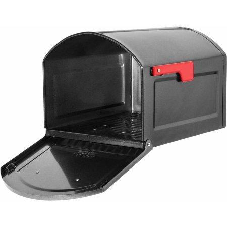 Architectural Mailboxes Centennial Large Capacity Post Mount Mailbox, Black (Cedar Post Kit)