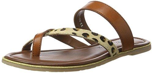 Sandales leopard New Femme Jamaica cuoio Braun Jenny Y5x7Uqzn