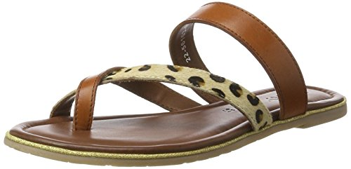 Jenny 22-56103, Chanclas Mujer Marrón (New-Cuoio/Leopard)
