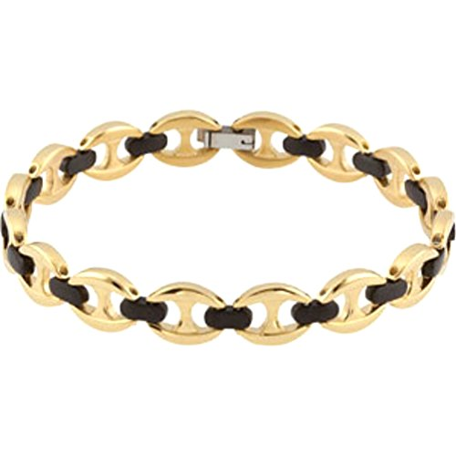 mens-and-womens-gold-ip-and-black-ip-titanium-9mm-marina-anchor-link-bracelet-85