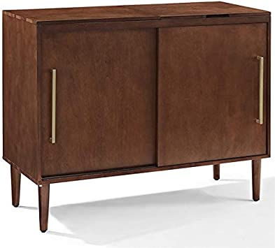 Crosley Everett Media Console Table in Mahogany