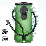 KUYOU Hydration Bladder,2 Liter/3 Liter Water Bladder 2L 2.5L 3L Liter Bag Pack - BPA Free Running Cycling Hiking Hydration Bladder, Leakproof Water Reservoir FDA Approved Hydration System