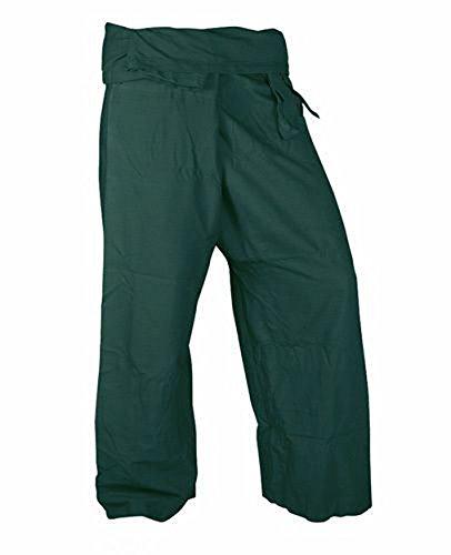 Lovely-Pants-Rayon-Fabric-Yoga-Trousers-Thai-Fisherman-Pants-Lululemon-Yoga-Pants-Free-Size-Dark-Green-Color