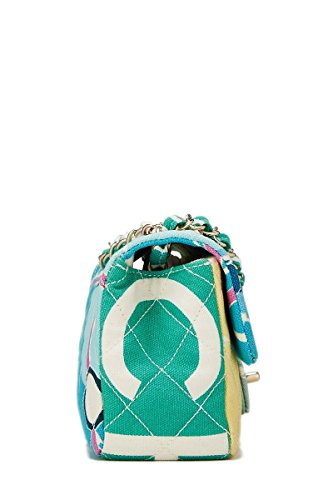 3fd3f14443d7 CHANEL Multicolor Canvas Eiffel Tower Half Flap Small (Pre-Owned ...