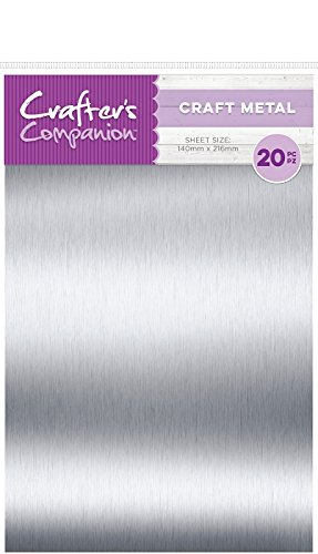 Thin Metal - Crafter's Companion Thin Metal Sheets Craft Material Pack 20/Pkg