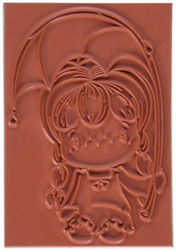 Rainy Day Rubber - C.C. Designs Swiss Pixie Cling Stamp, 3.5 by 2.25-Inch, Rainy Day Birgitta