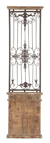 Deco 79 80944 Metal Wood Wall Gate Makes You Fall in Instant Love, 71