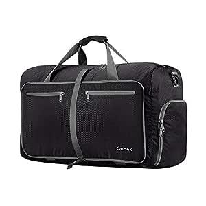 Gonex 40L Packable Travel Duffle Bag, Great Boarding Bag Lightweight Water Repellent & Tear Resistant 40L Black