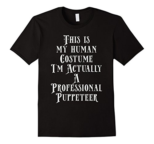 Ventriloquist Costume Man (Mens My Human Costume - Professional Puppeteer Gift Shirt XL Black)