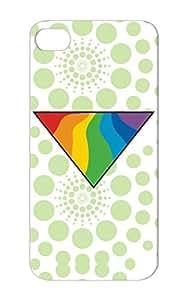 Gay Lesbian Gblt Gay Lesbian Rainbow Triangle Love Anti-scratch Case For Iphone 5s Green Triangle Rainbow