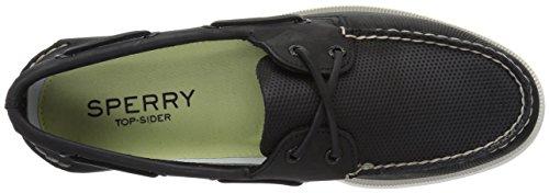 Sperry Top-sider Heren A / O 2-oog Geparfeneerde Bootschoen Zwart