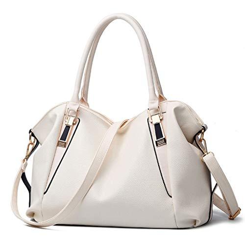 Blanc à 6 cm Couleurs Main Sac Bag Messenger Sac 37 Couleur Sac 23 Classique Casual 16 Femmes Mode Soft épaule PU qROR0F