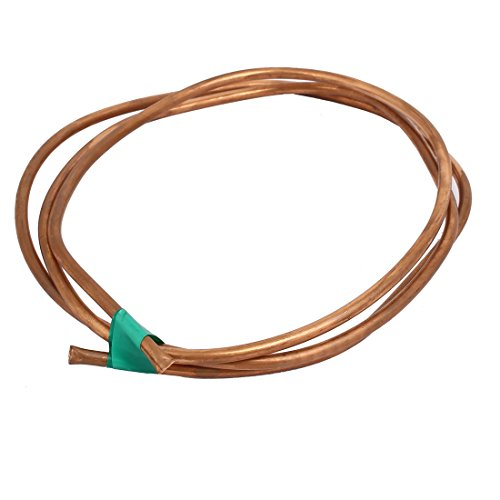 uxcell 4mm Outer Dia 1.5M Length Refrigerator Copper Tube Coil Copper Tone