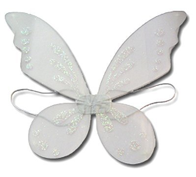 Child Tinkerbell Fairy Princess Costumes - White Pixie Fairy Wings Tinkerbell Princess Tutu Dress up Costume