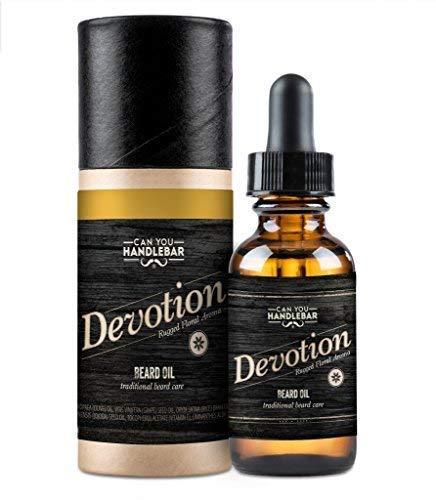Devotion - Patchouli & Floral Aroma - Premium Beard Oil For Men   1 oz. Dropper Top Amber Glass Bottle