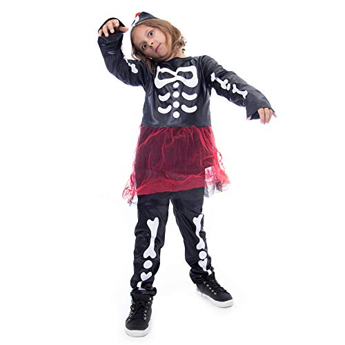 Boo! Inc. Spooky Skeleton Girls Halloween Costume | Dress Up (3-4)