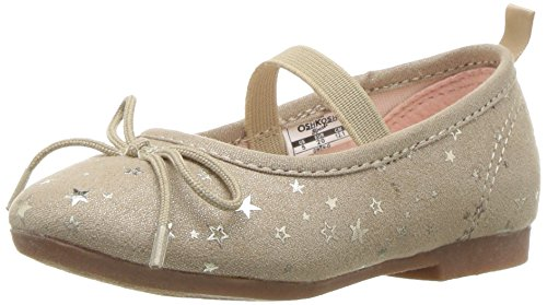 Price comparison product image Oshkosh B'Gosh Girls' Gwen Ballet Flat,  Gold,  9 M US Toddler