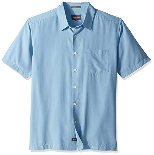 Quiksilver Up Button Shirt - Quiksilver Waterman Men's Cane Island Button Down Shirt, Parisian Blue, XL