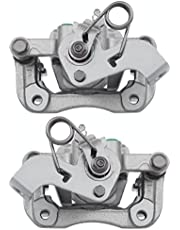 AutoShack BC7812PR Pair of 2 Rear Driver and Passenger Side Disc Brake Caliper Assembly with Bracket Replacement for 2012 2013 2014 2015 2016 2017 Kia Rio 1.6L FWD
