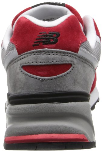 New Balance hombres del ml999 Running Shoe Red / Grey
