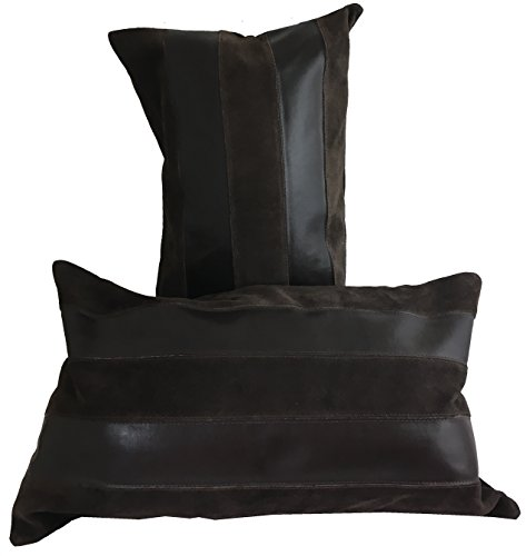 Pleasant 50 Off Sia Leather Suede Throw Pillow Dark Brown Iccasap Com Andrewgaddart Wooden Chair Designs For Living Room Andrewgaddartcom