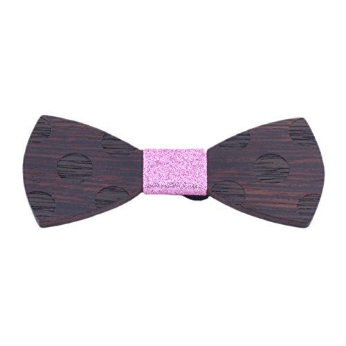 zhongle Men's Wood Bow Tie Creative Wooden Bowtie Handmade Customized