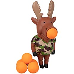 Hog Wild Moose Popper Toy - Shoot Foam Balls Up to 20 Feet - 6 Balls Included - Age 4+