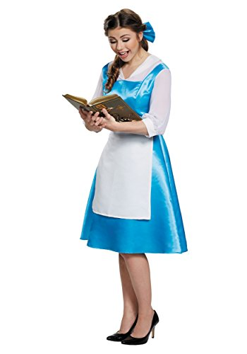 [Belle Blue Dress Adult Costume, Womens, Medium 8-10] (Belle Halloween Costumes For Adults)