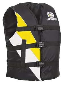 Jobe - Chaleco salvavidas universal, color amarillo y negro