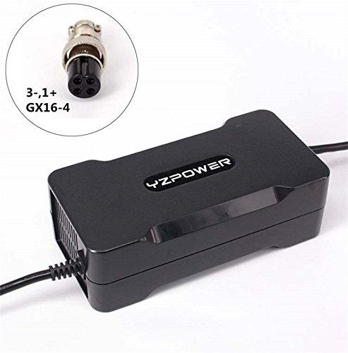 Power Smart 42/V 2,2/A Cargador Fuente de alimentaci/ón para 36/V Bater/ía para HP1202L3 cp100l1002/E-Bike bater/ía con 3/Pin Conector