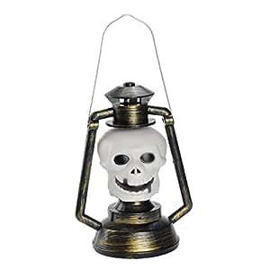 Halloween Voice Control Pumpkin Lights Skull Lantern Ghost Lights Christmas Bar Decorative Lights,A-18CM*23CM