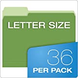 Pendaflex Two-Tone Color File Folders, Letter Size, Assorted Colors (Bright Green, Yellow, Red, Blue), 1/3-Cut Tabs, Assorted, 36 Pack (03086), 4-Color
