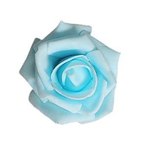 Jili Online 50x Artificial Rose flower Head Garlands Home Decor Bridal Bouquet 11 Color - Light Blue 35