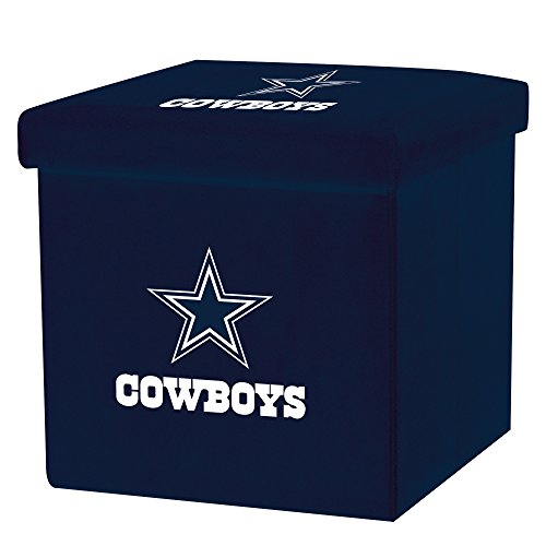 - Franklin Sports NFL Dallas Cowboys Storage Ottoman with Detachable Lid 14 x 14 x 14 - Inch