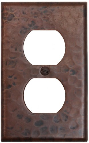 Hammered Copper Switchplate Duplex 2 Hole Outlet Plug Receptacle Cover-LSC202
