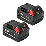 LiBatter 18V 6.0Ah Battery Compatible with Milwaukee Cordless Power Tool 48-11-1850 48-11-1852 48-11-1840 48-11-1828 Milwaukee Battery