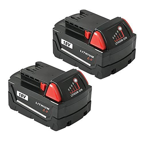 Milwaukee Power Tool Battery - LiBatter 18V 6.0Ah Battery Compatible with Milwaukee Cordless Power Tool 48-11-1850 48-11-1852 48-11-1840 48-11-1828 Milwaukee Battery