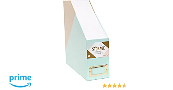 Amazon.com: American Crafts 375799 Paper Storage Crate Paper Desktop Storage Paper Storage