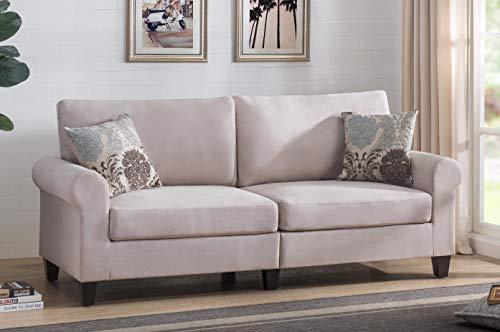 (2L Lifestyle Bailey Classic,Comfort Design  Sofa , Beige)