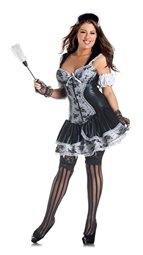 French Maid Body Shaper Adult Costume - Plus Size (French Maid Body Shaper Costumes)