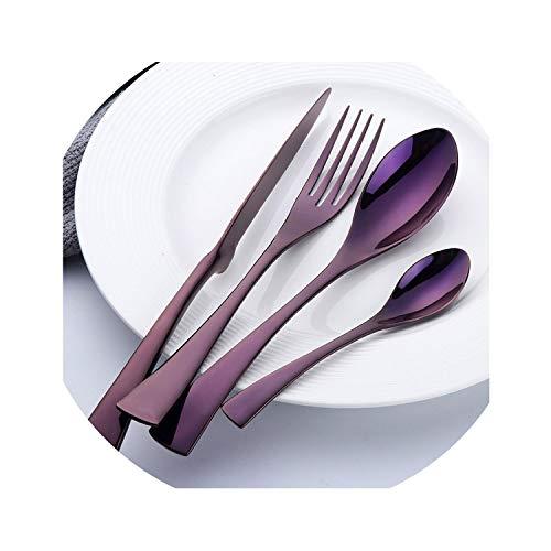 Stylish Tableware Set Flatware Cutlery Stainless Steel 304 Utensils Kitchen Dinnerware include Knife Fork Spoon,4 sets(16 ()