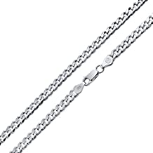 Bling Jewelry Sterling Silver Mens Curb Cuban Chain Necklace 150 Gauge