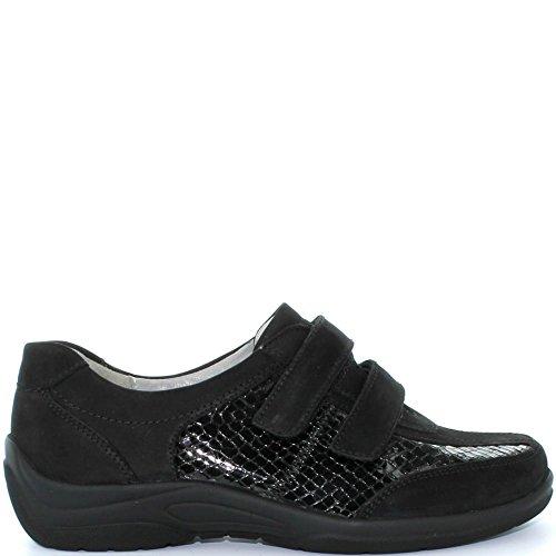 Multi En Black Chaussure 312302 Intérieure Waldlaufer Semelle Confort Grande Décontractée Mesdames Forme Amovible w7qRPHX