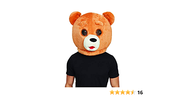Details about  /ADS Teddy Bear Of Ted Teddy Bear Head Costume Halloween Mascot Cartoon For Lover