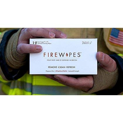 Firewipes On-Scene Firefighter Skin Decontamination Wipes - 24 Boxes per case
