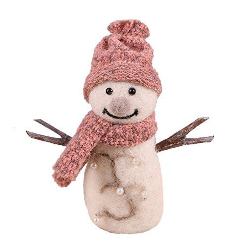 Zoopolr Snowman Ornament, Handmade Needle Felted Wool Snowman, Christmas Ornament, Felted Wool Ornament, Best Gift